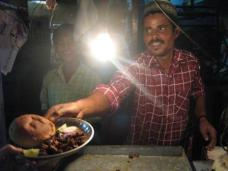 Dinner at the Muslim night market in Ahmedabad