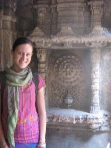 Standing in the baoli (well)