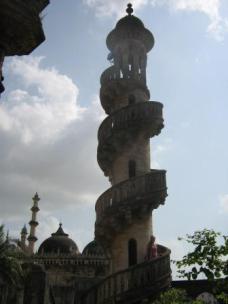 Climbing a minaret