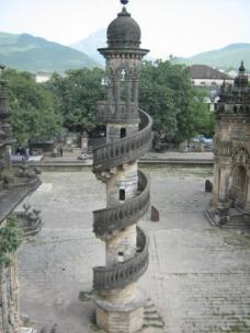 View of one minaret, from the other