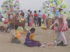 Vendors on Chowpatty Beach