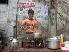 Chai seller in Paharganj, Delhi