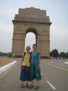 My friend Ali and I at India Gate